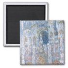 Kathedrale Claude Monets | Rouen Quadratischer Magnet