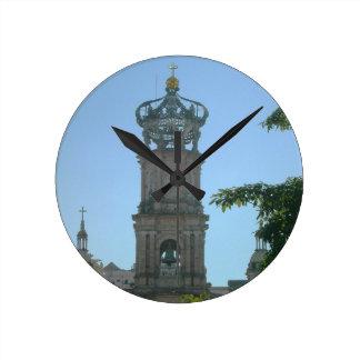 Kathedrale, Puerto Vallarta, Mexiko Runde Wanduhr