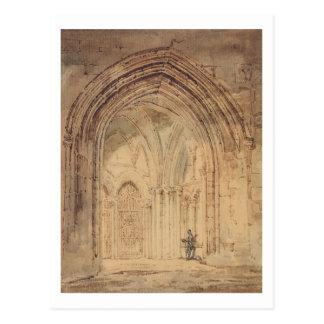 Kathedrale St. Alban, Hertfordshire, c.1797 (w/c, Postkarte