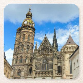 Kathedrale St. Elisabeth in Kosice, Slowakei Rechteckiger Pappuntersetzer