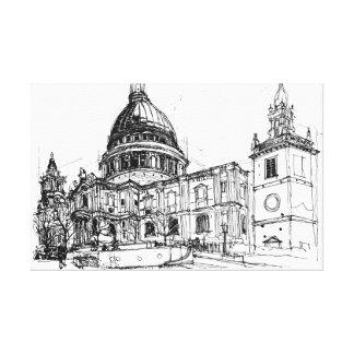 Kathedrale St. Pauls, London. Skizze Leinwanddruck
