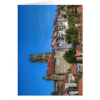 Kathedrale von Sankt Nikolaus in Fribourg, die Karte