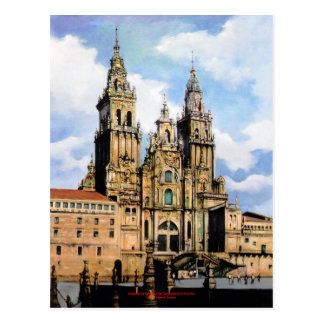 Kathedrale von Santiago Compostela Von ,(Zu Postkarte