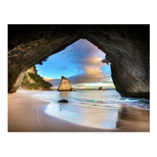"""Kathedralen-Bucht, Neuseeland"" Postkarte"