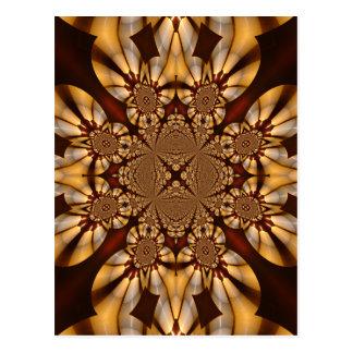Kathedralen-Buntglas-Windows-Weiß-Kerzen Postkarte