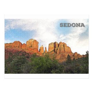Kathedralen-Felsen - Sedona, AZ Postkarte