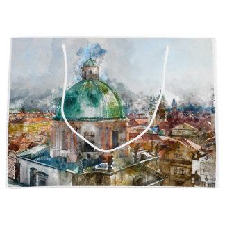 Kathedralen-Haube in Tschechischer Republik Prags Große Geschenktüte