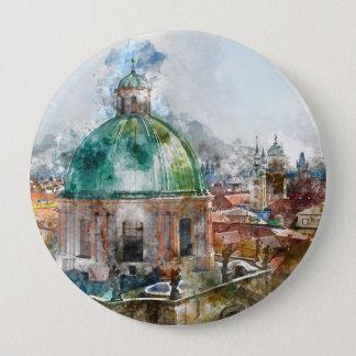 Kathedralen-Haube in Tschechischer Republik Prags Runder Button 10,2 Cm