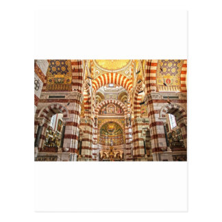 Kathedralen-Notre Damede-La Garde in Marseille Postkarte