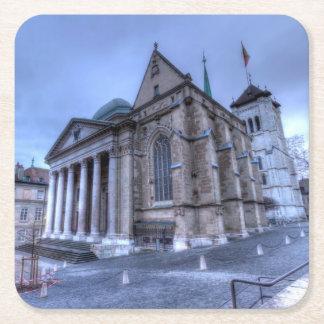 Kathedralen-Saint Pierre, Peter, Genf, die Schweiz Rechteckiger Pappuntersetzer