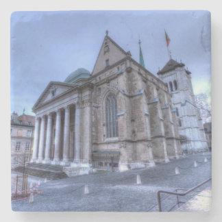 Kathedralen-Saint Pierre, Peter, Genf, die Schweiz Steinuntersetzer