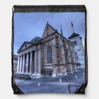 Kathedralen-Saint Pierre, Peter, Genf, die Schweiz Turnbeutel