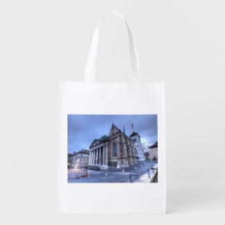 Kathedralen-Saint Pierre, Peter, Genf, die Schweiz Wiederverwendbare Einkaufstasche