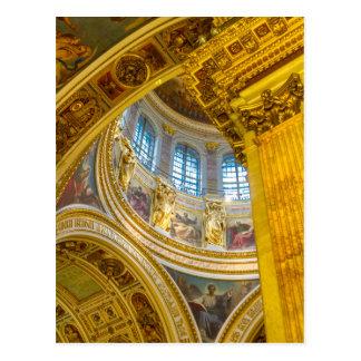 Kathedralen-St. Petersburg St. Isaacs, Russland Postkarte