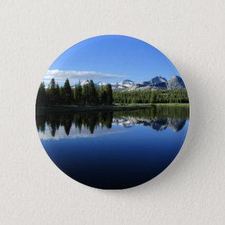 Kathedralen-umspannen Tuolumne Fluss- Yosemite Runder Button 5,1 Cm