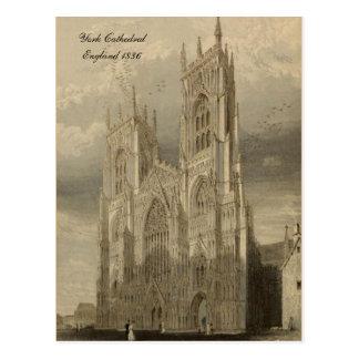 Kathedralen von England-Reihen: York 1836 Postkarten