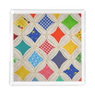Kathedralenfenster-Steppdeckenmuster Acryl Tablett