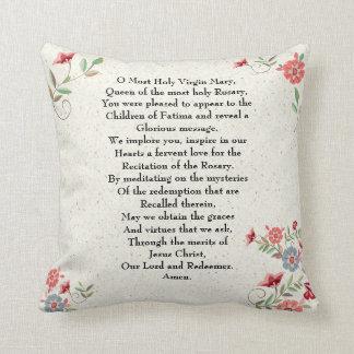 Katholische Dame des Fatima-Gebets-Geschenks Kissen