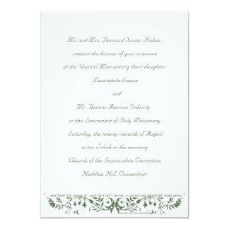 Katholische Hochzeits-Set-Einladungs-Schablone cm 12,7 X 17,8 Cm Einladungskarte