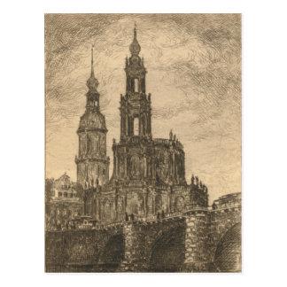 Katholische Hofkirche, Dresden Postkarte