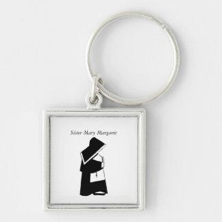 Katholische Nonnen-Schwester im Schlüsselanhänger