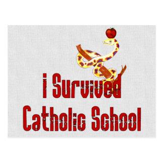 Katholische Schulüberlebender Postkarte