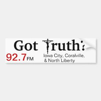 Katholischer RadioAutoaufkleber (Iowa City) Autoaufkleber