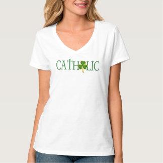 Katholischer T - Shirt der V-Hals der Frauen