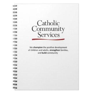 Katholisches Ableistung- von Notizblock