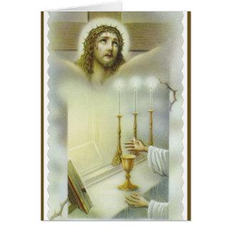 Katholisches Massenjesus-Altar-Angebot Karte