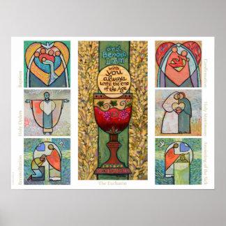 Katholisches Sakraments-Klassenzimmer-Plakat Poster