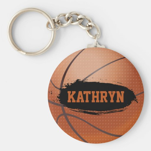 Kathryn personifizieren Basketball-Schlüsselkette/ Schlüsselanhänger