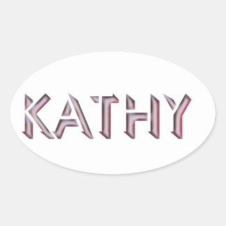 Kathy Aufklebername Ovaler Aufkleber