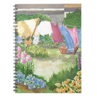 Kathys Wäscherei auf Monhegan ist Maine-Notizbuch Notizblock