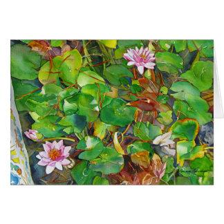 """""""Kathys Wasserlilien """" Karte"""