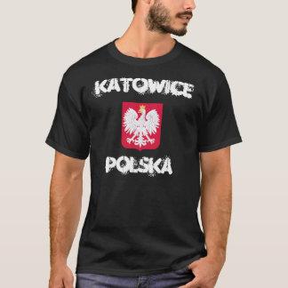 Katowice, Polska, Polen mit Wappen T-Shirt