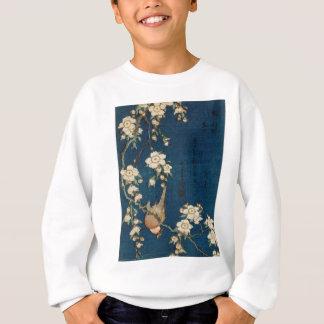 Katsushika Hokusai 葛飾北斎 Goldfinch und Kirschbaum Sweatshirt