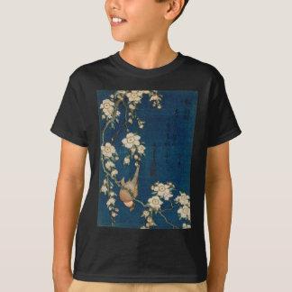 Katsushika Hokusai 葛飾北斎 Goldfinch und Kirschbaum T-Shirt