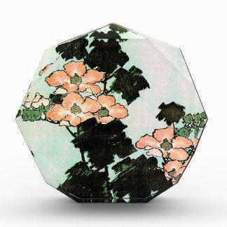 Katsushika Hokusai (葛飾北斎) - Hibiskus und Spatz Acryl Auszeichnung