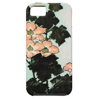 Katsushika Hokusai (葛飾北斎) - Hibiskus und Spatz iPhone 5 Schutzhülle