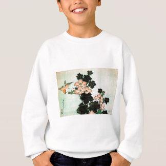 Katsushika Hokusai (葛飾北斎) - Hibiskus und Spatz Sweatshirt