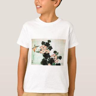Katsushika Hokusai (葛飾北斎) - Hibiskus und Spatz T-Shirt