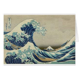 Katsushika Hokusai: Die große Welle bei Kanagawa Karte