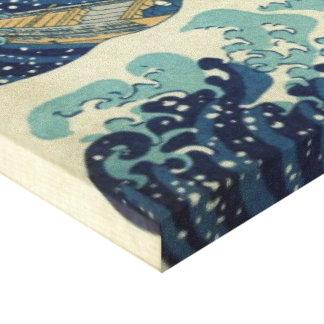 Katsushika Hokusai die große Welle weg von Leinwanddruck