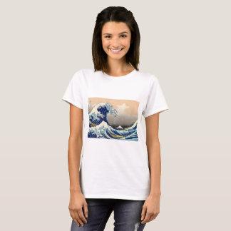 KATSUSHIKA HOKUSAI - Die große Welle weg von T-Shirt