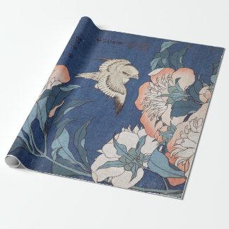 Katsushika Hokusai Pfingstrosen und Kanarienvogel Geschenkpapier