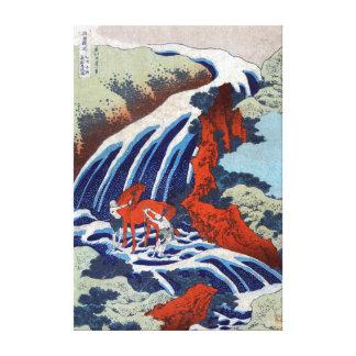 Katsushika Hokusai Yoshino Wasserfälle Leinwanddruck