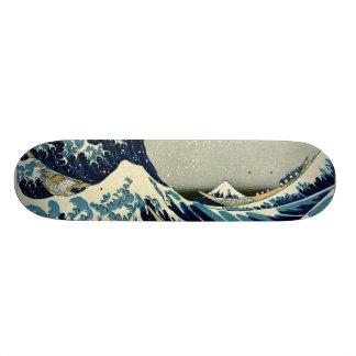 Katsushika Hokusais große Welle weg von Kanagawa Individuelle Skatedecks