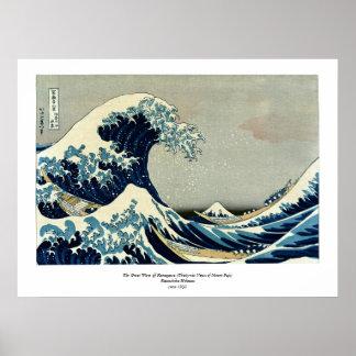Katsushika Hokusais große Welle weg von Kanagawa Poster