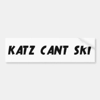Katz kann nicht Ski fahren Autoaufkleber